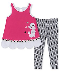 Kids Headquarters Little Girls 2-Pc. Poodle Tunic & Printed Leggings Set