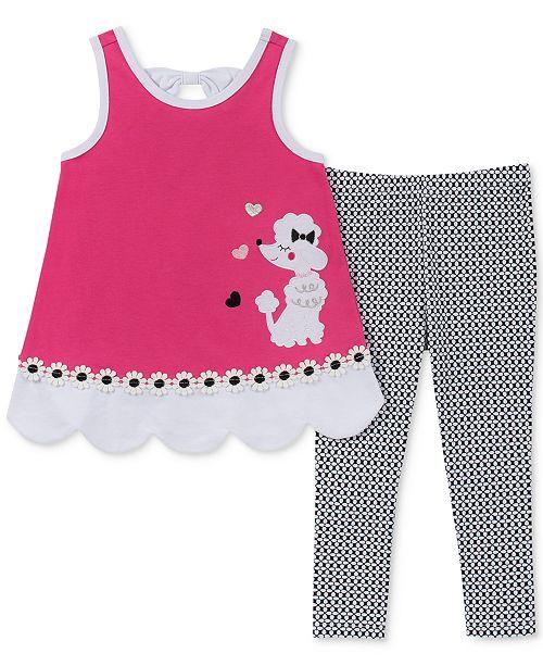 Kids Headquarters Little Girls 2-Pc. Poodle Tunic & Printed Leggings Set