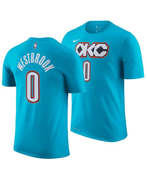 buy popular 0c837 5d326 Nike Russell Westbrook Oklahoma City Thunder City Edition T ...