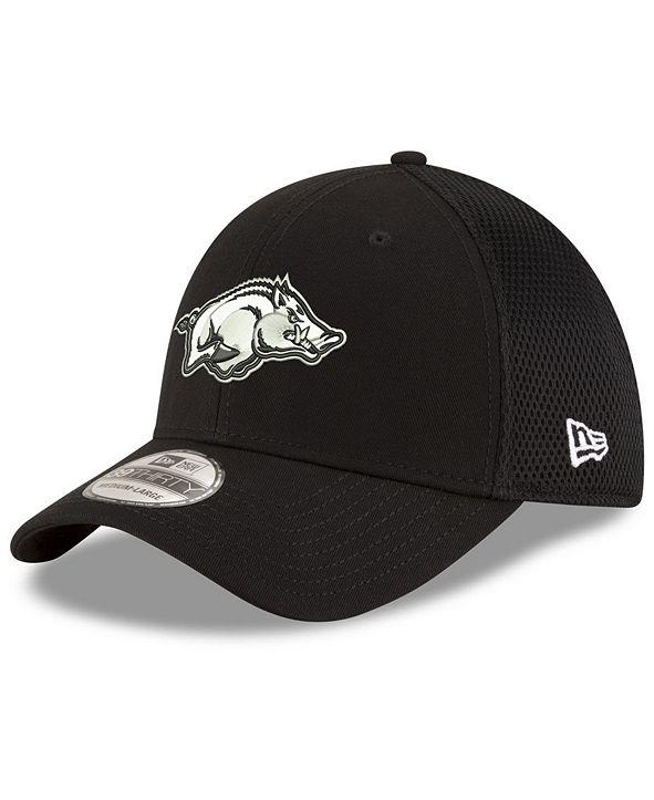 New Era Arkansas Razorbacks Black White Neo 39THIRTY Cap