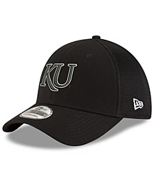 Kansas Jayhawks Black White Neo 39THIRTY Cap