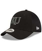 09d0c52ae45 New Era Kansas Jayhawks Black White Neo 39THIRTY Cap