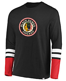 Majestic Men's Chicago Blackhawks 5 Minute Major Long Sleeve T-Shirt