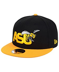 Alabama State Hornets Black Team Color 9FIFTY Snapback Cap