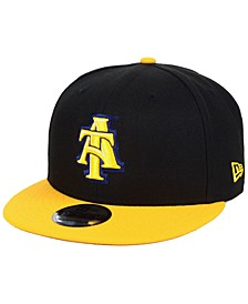 North Carolina A&T Aggies Black Team Color 9FIFTY Snapback Cap