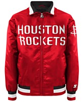 adcbae45f3e G-III Sports Men s Houston Rockets Starter Captain II Satin Jacket