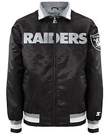 G-III Sports Men's Oakland Raiders Starter Captain II Satin Jacket