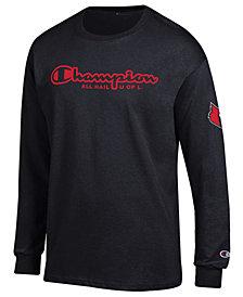 Champion Men's Louisville Cardinals Co-Branded Long Sleeve T-Shirt