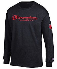 Champion Men's Louisville Cardinals Co-Branded Long Sleeve T-Shirt