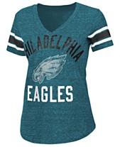 525763912e0 G-III Sports Women s Philadelphia Eagles Sleeve Stripe Bling T-Shirt