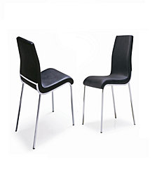 New Spec Oren Contemporary Leatherette Dining Chair Set of 4 Pieces