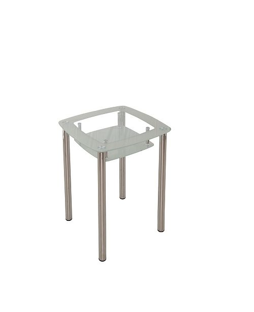 Tiered Square Gl Dining Table