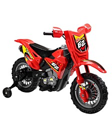 6 Volt Battery Operated Red Dirt Bike