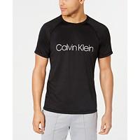 Calvin Klein Men's Stretch Quick-Dry Logo Rash Guard