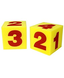 Learning Resources Giant Soft Foam Numeral Cubes Set of 2