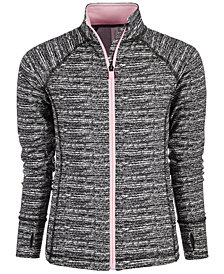 Ideology Big Girls Noir Static Printed Jacket, Created for Macy's