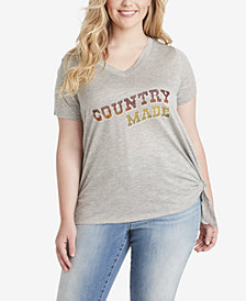 Jessica Simpson Juniors' Plus Size Country Made Graphic T-Shirt
