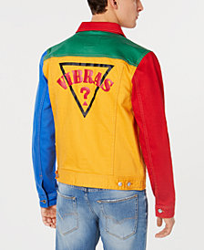 GUESS Men's Colorblocked Denim Jacket