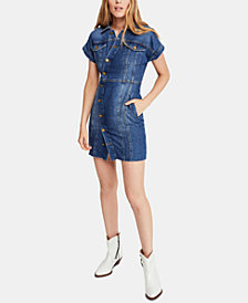Free People The City Cotton Mini Dress