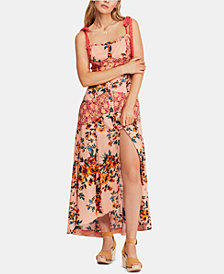 Free People Printed Sleeveless Maxi Dress