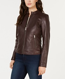 Marc New York Leather Moto Jacket