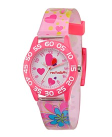 Red Balloon Girls' Pink Plastic Time Teacher Watch
