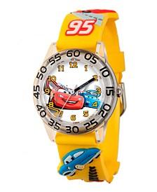 Disney Cars Boys' 3D Plastic Time Teacher Watch
