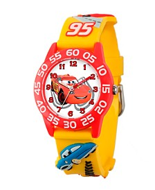 Disney Cars Boys' 3D Red Plastic Time Teacher Watch