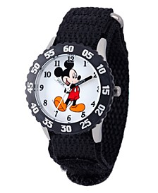 Disney Mickey Mouse Boys' Stainless Steel Time Teacher Watch