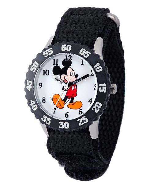 ewatchfactory Disney Mickey Mouse Boys' Stainless Steel Time Teacher Watch