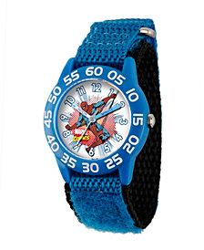 Marvel Spider-Man Boys' Blue Plastic Time Teacher Watch