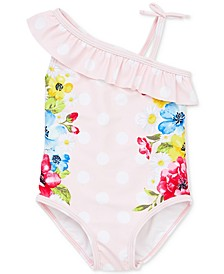 Floral Dot Baby Girls Swimsuit
