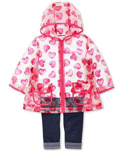 56c3a314f99f Little Me Baby Girls 3-Pc. Heart-Print Jacket