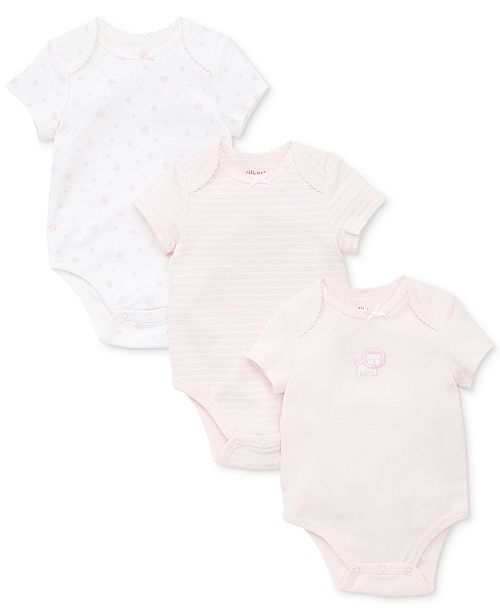 Little Me Baby Girls 3-Pack Cotton Bodysuits
