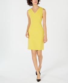 Nine West V-Neck Sheath Dress