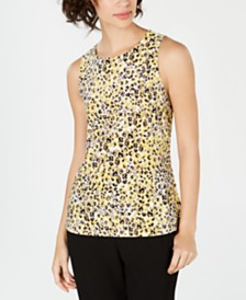 Nine West Printed V-Neck Blouse