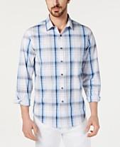 4552439a Alfani Men's AlfaTech Stretch Graphic Plaid Shirt, Created for Macy's