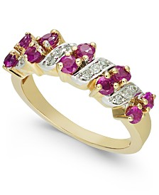 Ruby (1 ct. t.w.) & Diamond (1/8 ct. t.w.) Ring in 14k Gold