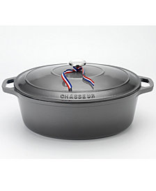 Chasseur French Enameled Cast Iron 6 Qt. Oval Dutch Oven