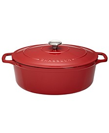 French Enameled Cast Iron 6 Qt. Oval Dutch Oven