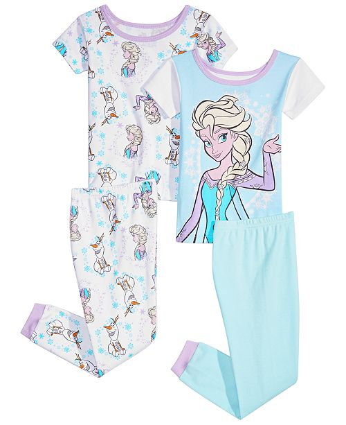 03833e0bd Frozen Toddler Girls 4-Pc. Elsa Cotton Pajama Set & Reviews ...