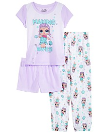 AME Little & Big Girls 3-Pc. L.O.L. Surprise! Pajama Set