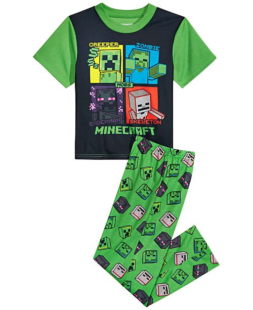 AME Minecraft Little & Big Boys 2-Pc. Minecraft Pajama Set