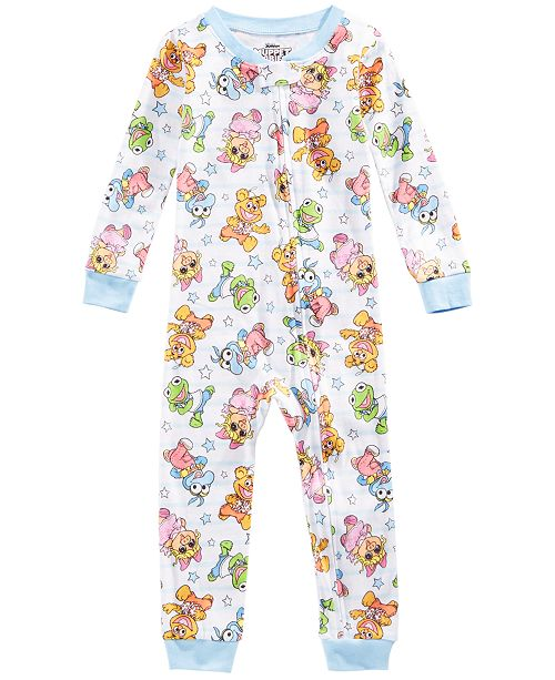 AME Toddler Girls Muppet Babies Printed Cotton Pajamas