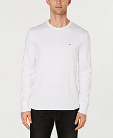 Calvin Klein Men's Basic Logo Solid Sweater