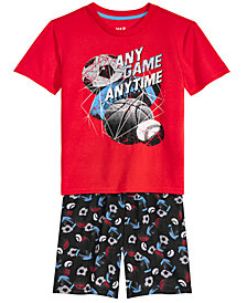 Max & Olivia Big Boys 2-Pc. Any Game Pajama Set