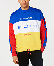 Versace Men's Classic-Fit Colorblocked Logo Sweatshirt