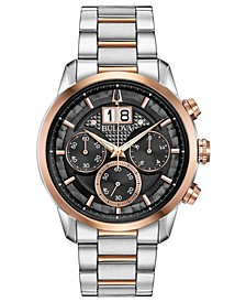 Men's Chronograph Sutton Two-Tone Stainless Steel Bracelet Watch 44mm