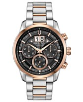 64a03a46f73 Bulova Men s Chronograph Sutton Two-Tone Stainless Steel Bracelet Watch 44mm