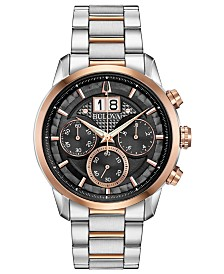 Bulova Men's Chronograph Sutton Two-Tone Stainless Steel Bracelet Watch 44mm